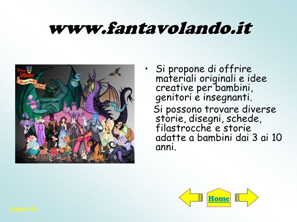 www.fantavolando.itSi propone di offrire materiali originali e idee creative per bambini, genitori e insegnanti.