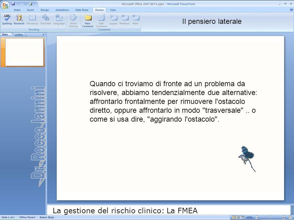 Dr. Rocco Iannini Il pensiero laterale