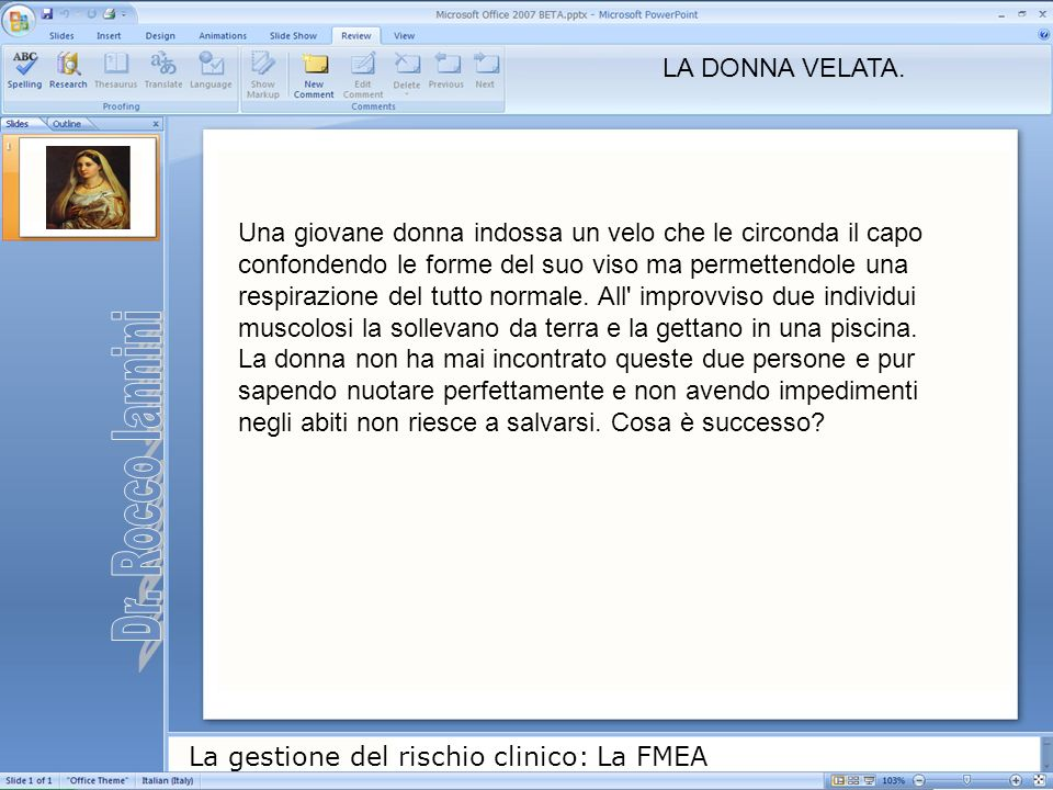 Dr. Rocco Iannini LA DONNA VELATA.