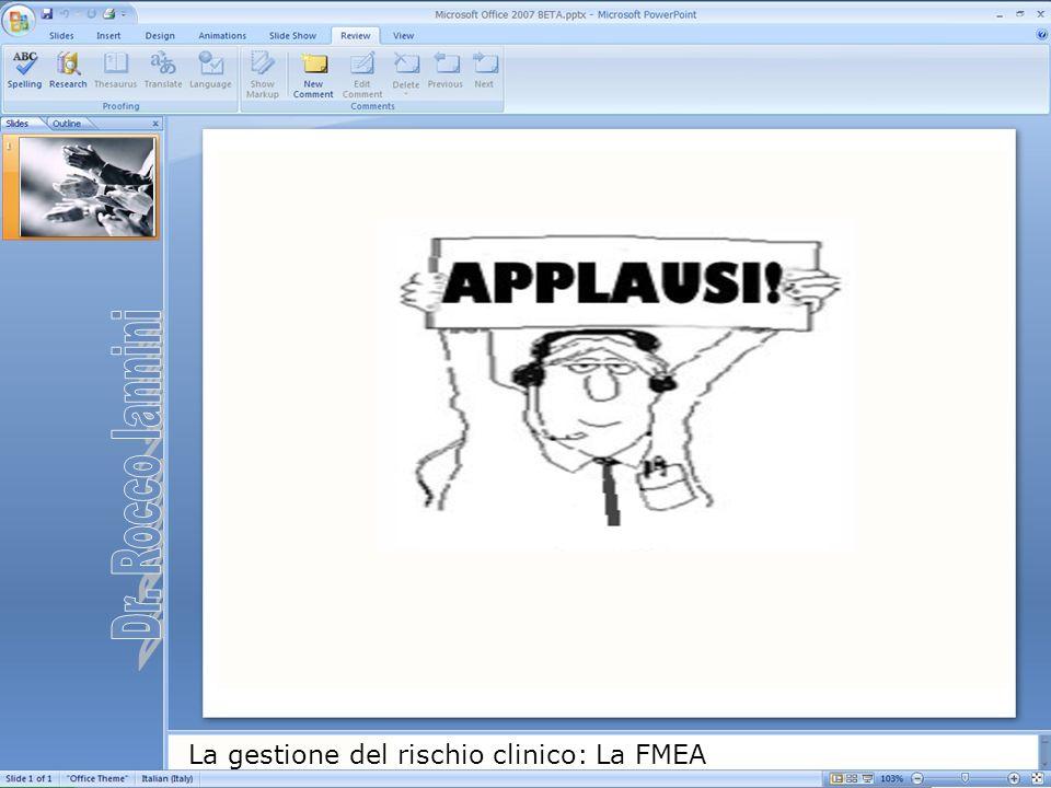 Dr. Rocco Iannini La gestione del rischio clinico: La FMEA
