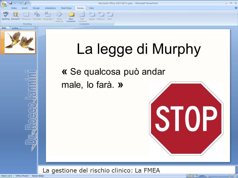 La legge di Murphy « Se qualcosa può andar male, lo farà. »