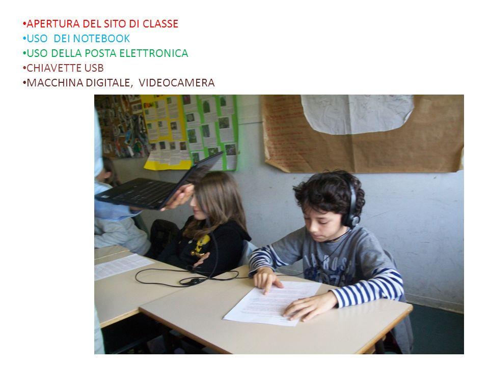 APERTURA DEL SITO DI CLASSE