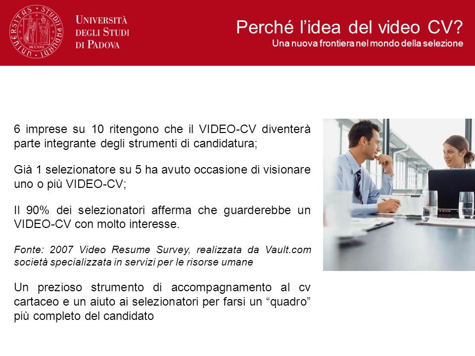 Perché l'idea del video CV