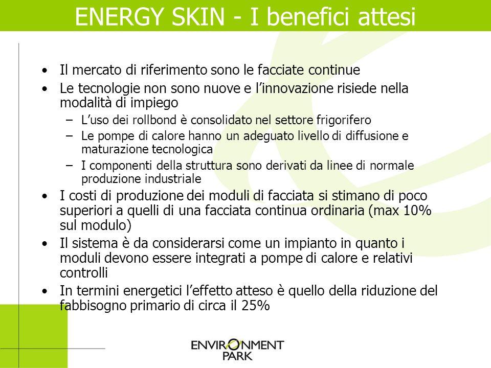 ENERGY SKIN - I benefici attesi