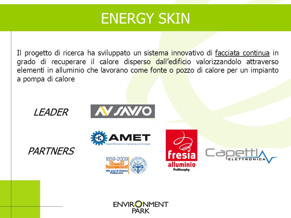 ENERGY SKIN LEADER PARTNERS