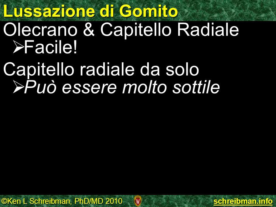 Olecrano & Capitello Radiale Facile! Capitello radiale da solo