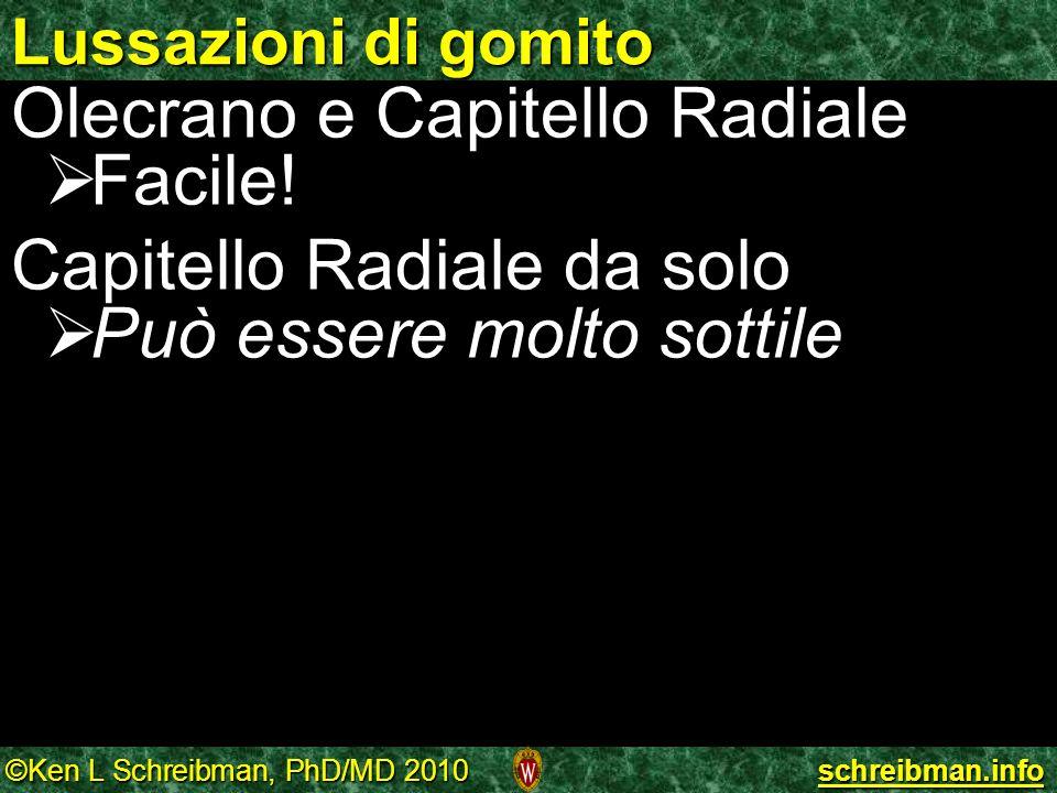 Olecrano e Capitello Radiale Facile! Capitello Radiale da solo