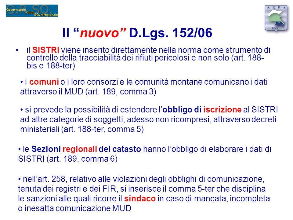 Il nuovo D.Lgs. 152/06