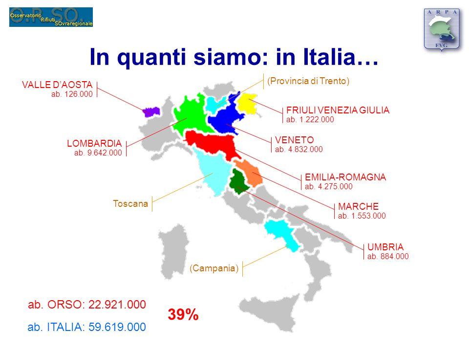 In quanti siamo: in Italia…