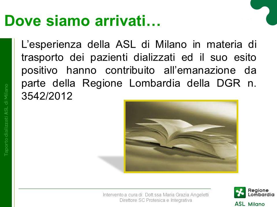 Taporto dializzati ASL di Milano Taporto dializzati ASL di Milano