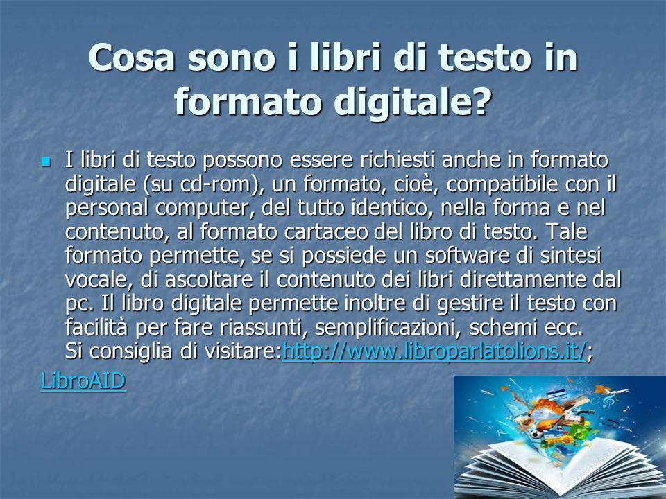 Cosa sono i libri di testo in formato digitale