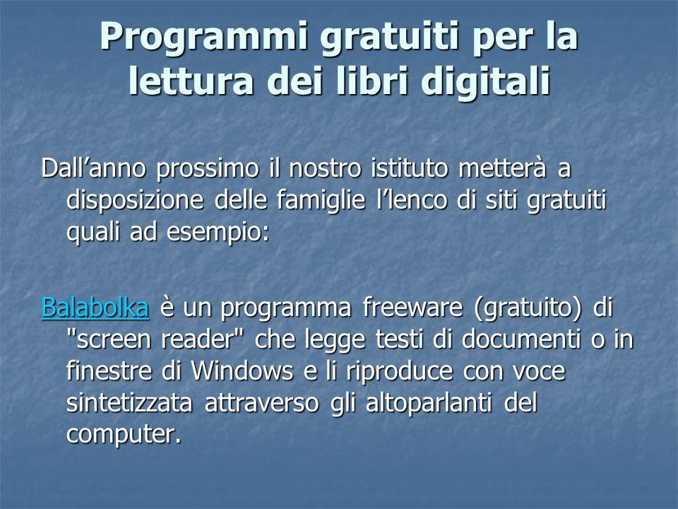 Programmi gratuiti per la lettura dei libri digitali