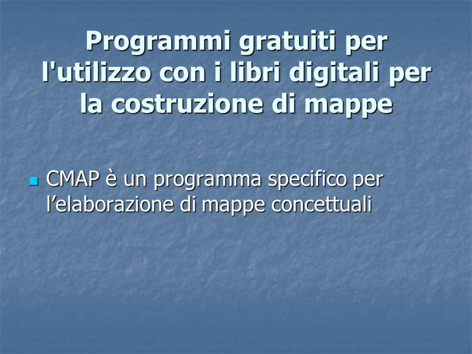 Programmi gratuiti per l utilizzo con i libri digitali per la costruzione di mappe