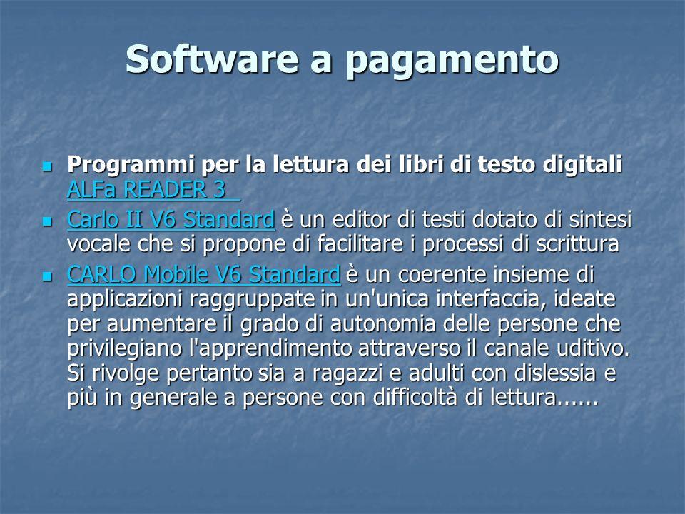 Software a pagamento Programmi per la lettura dei libri di testo digitali ALFa READER 3