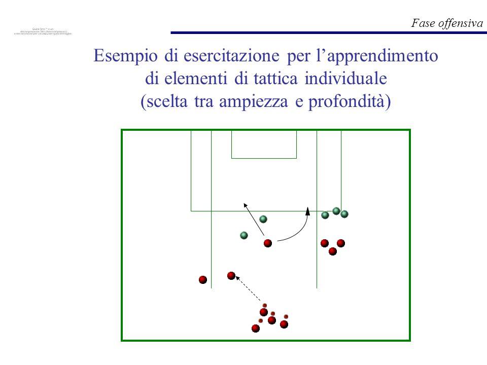 Esempio di esercitazione per l'apprendimento di elementi di tattica individuale (scelta tra ampiezza e profondità)