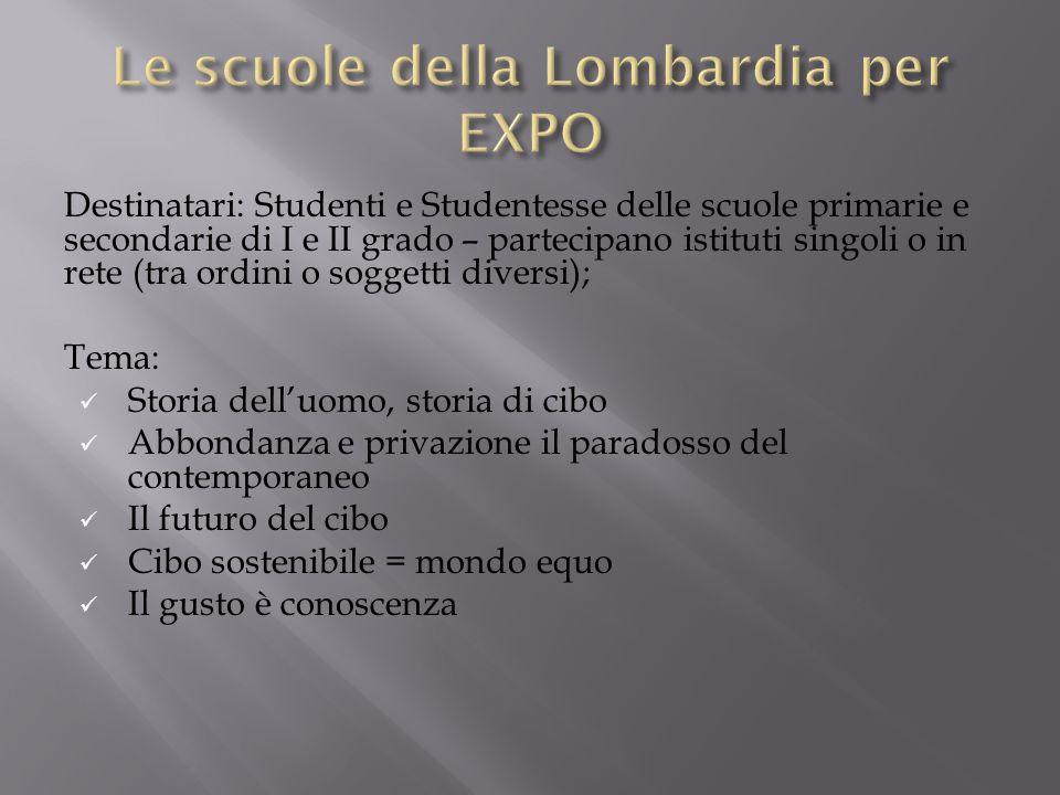 Le scuole della Lombardia per EXPO