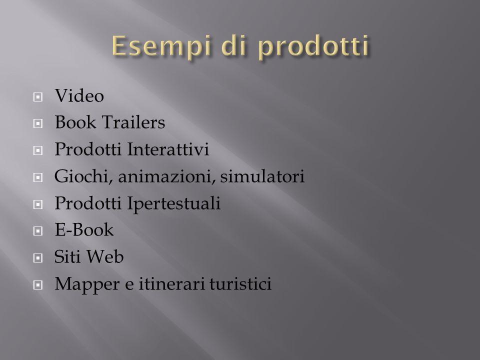 Esempi di prodotti Video Book Trailers Prodotti Interattivi