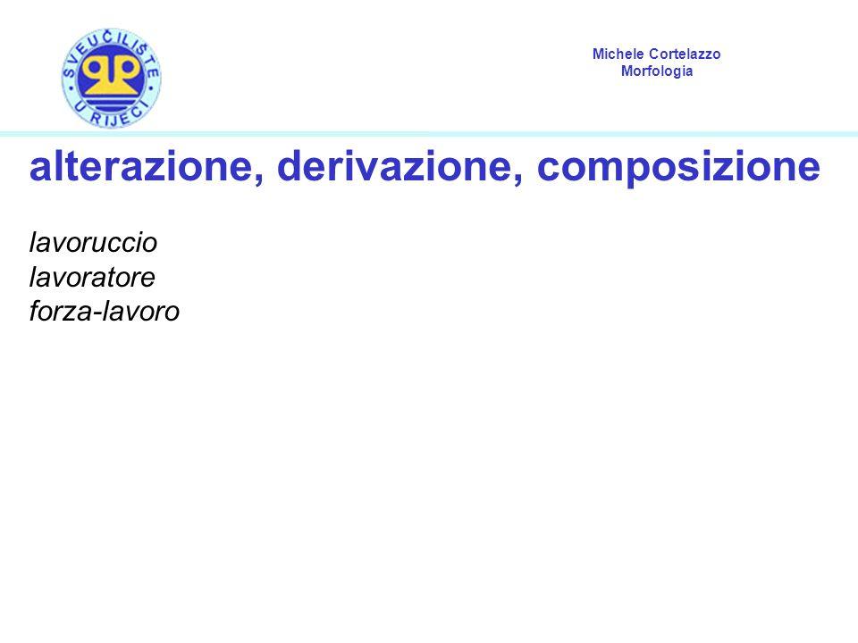 alterazione, derivazione, composizione