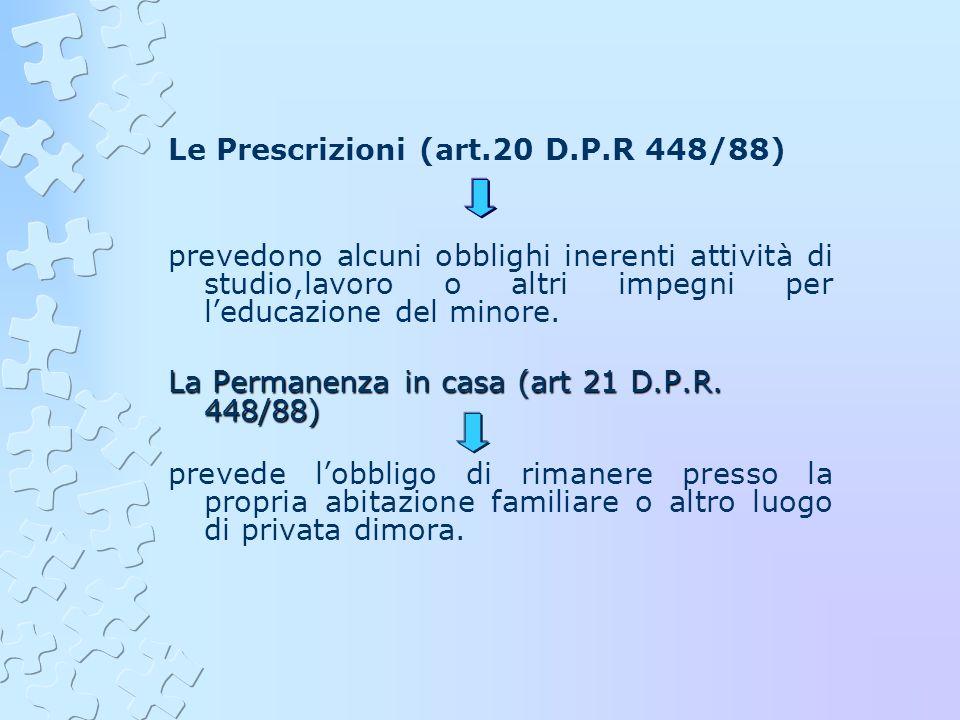 Le Prescrizioni (art.20 D.P.R 448/88)