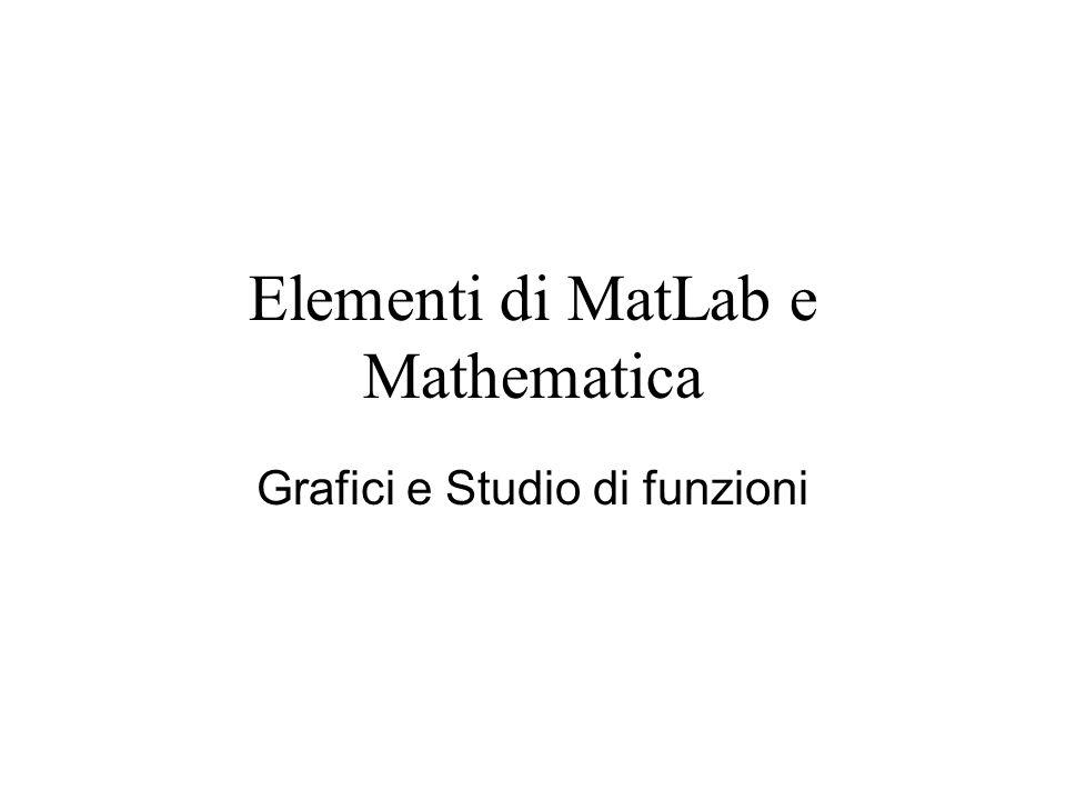 Elementi di MatLab e Mathematica