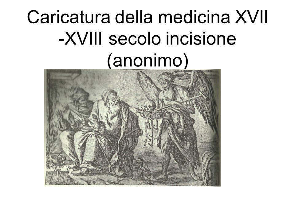 Caricatura della medicina XVII -XVIII secolo incisione (anonimo)