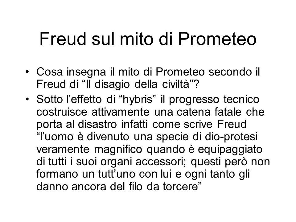 Freud sul mito di Prometeo