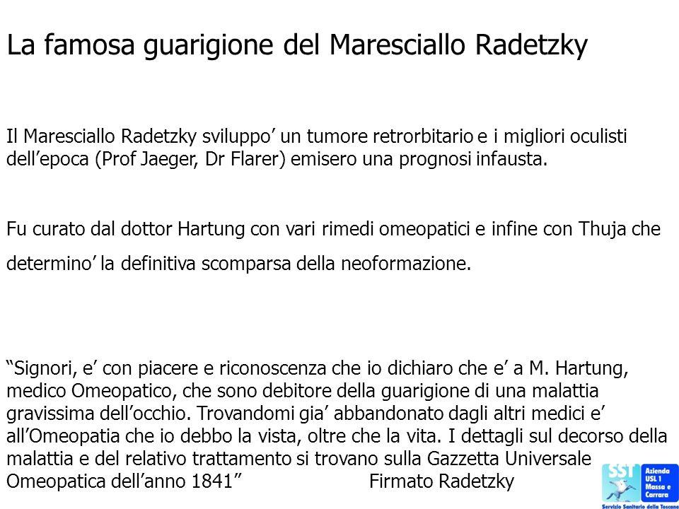 La famosa guarigione del Maresciallo Radetzky