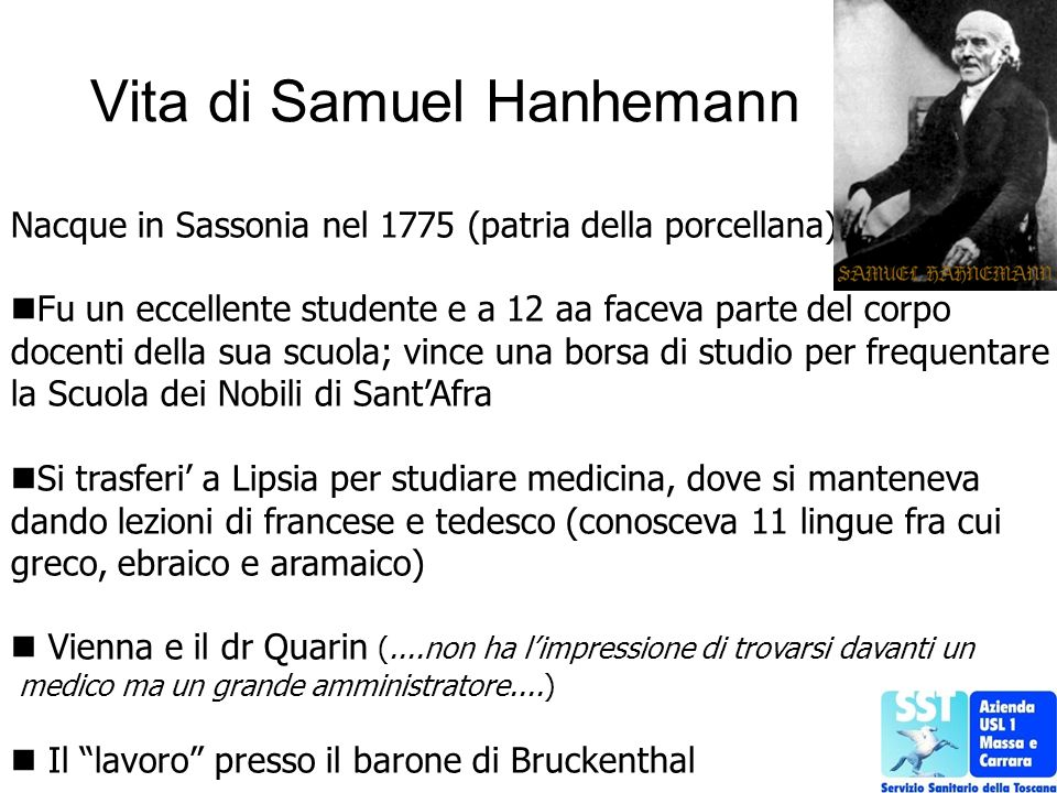 Vita di Samuel Hanhemann