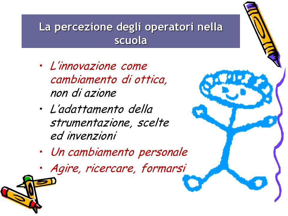 La percezione degli operatori nella scuola