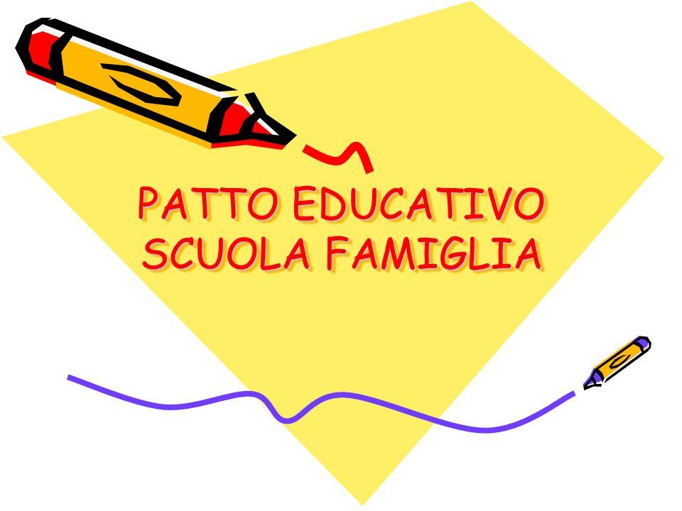 PATTO EDUCATIVO SCUOLA FAMIGLIA