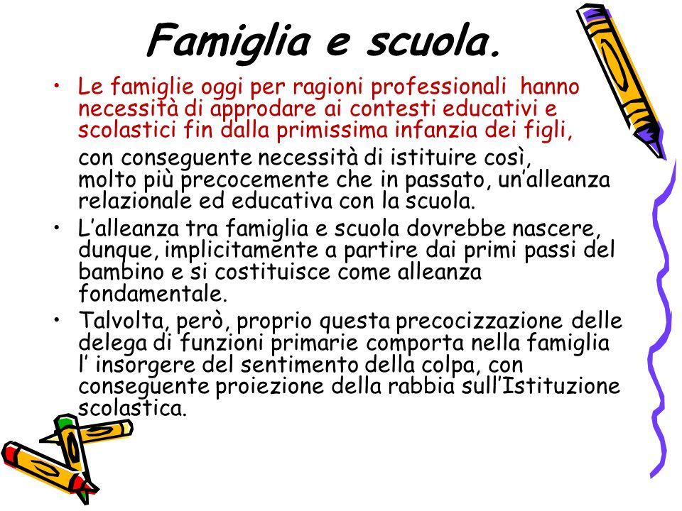 Famiglia e scuola.