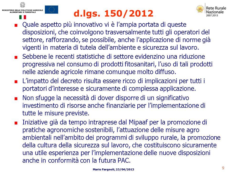 d.lgs. 150/2012