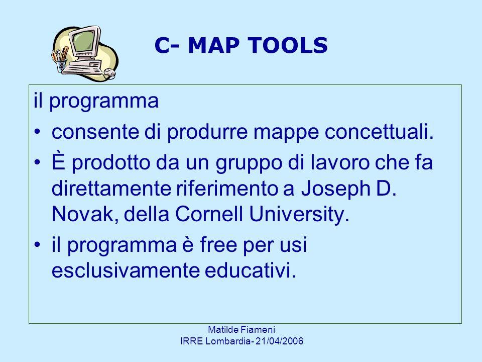 consente di produrre mappe concettuali.