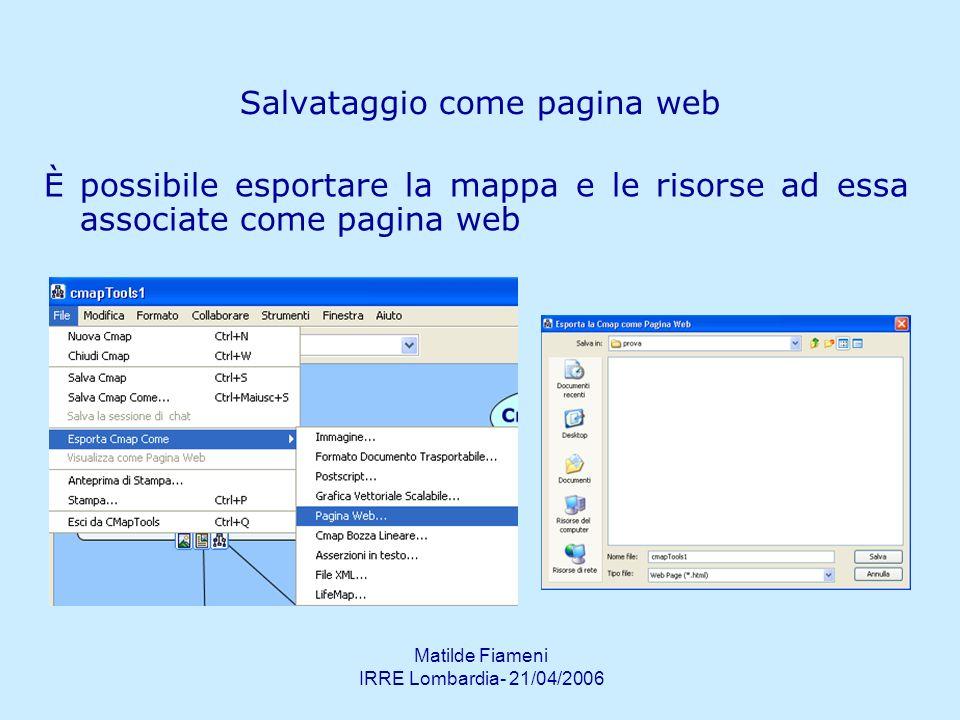 Salvataggio come pagina web