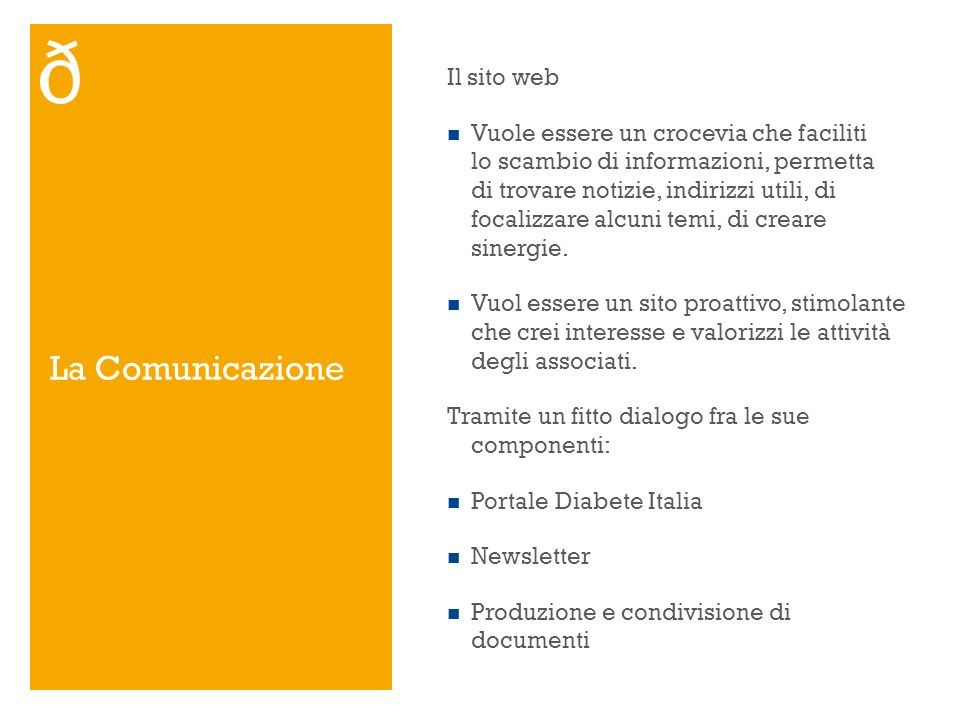 La Comunicazione Il sito web