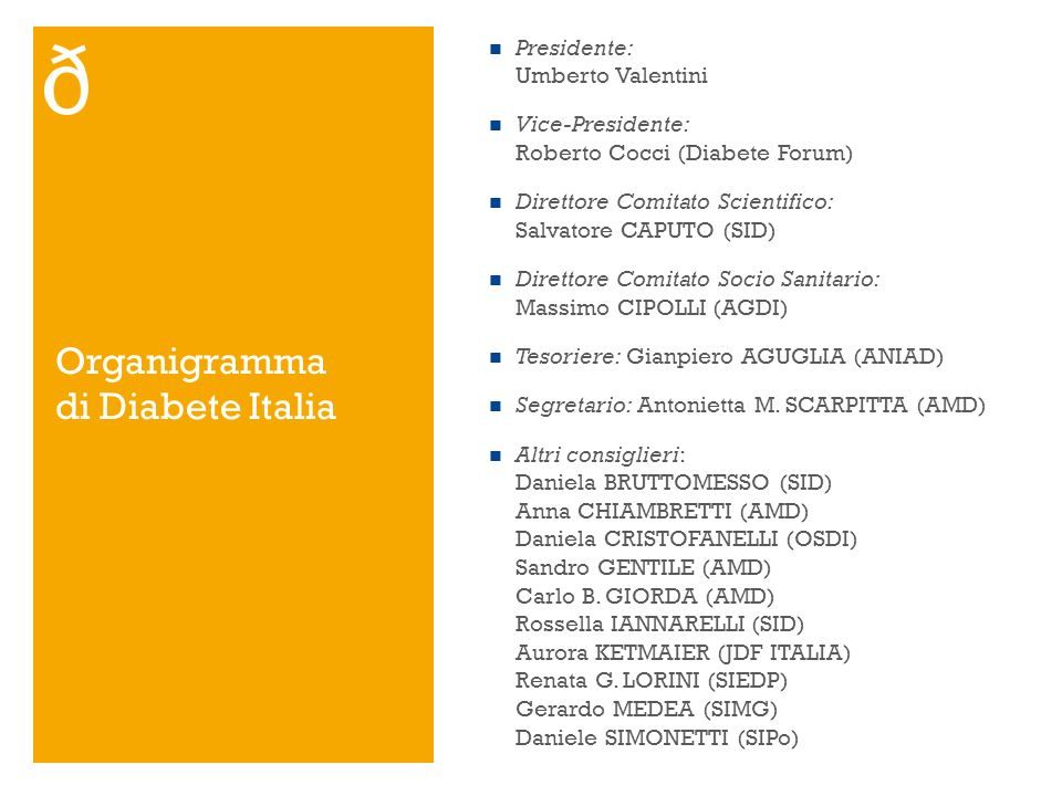 Organigramma di Diabete Italia