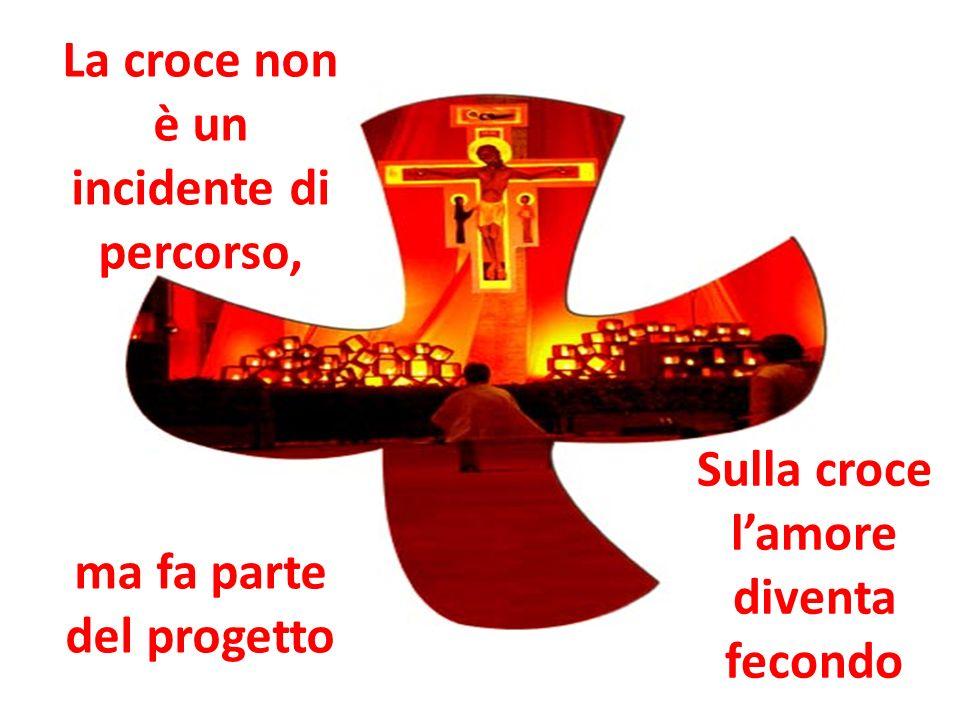 La croce non è un incidente di percorso, ma fa parte del progetto