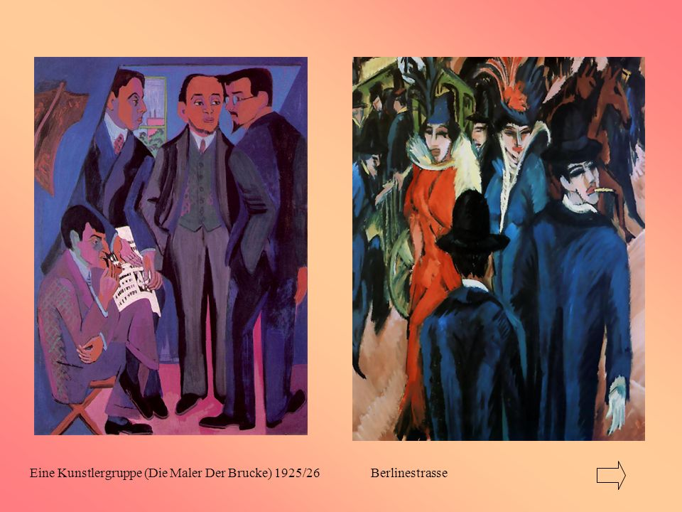 Eine Kunstlergruppe (Die Maler Der Brucke) 1925/26 Berlinestrasse