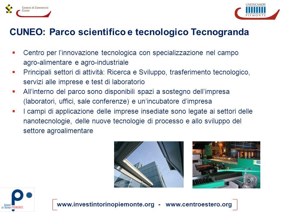 CUNEO: Parco scientifico e tecnologico Tecnogranda