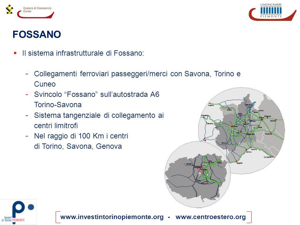 FOSSANO Il sistema infrastrutturale di Fossano: