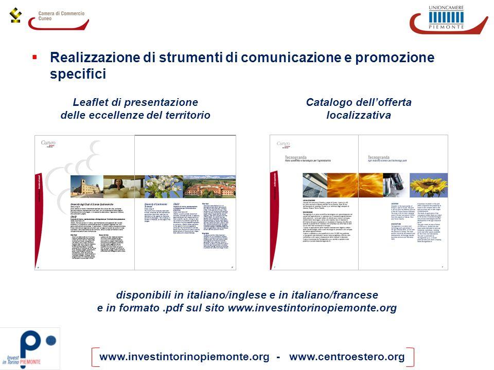 Realizzazione di strumenti di comunicazione e promozione specifici