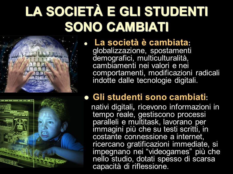 LA SOCIETÀ E GLI STUDENTI SONO CAMBIATI
