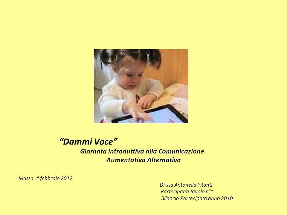 Dammi Voce Giornata introduttiva alla Comunicazione Aumentativa Alternativa