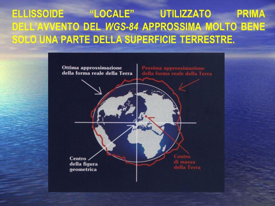ELLISSOIDE LOCALE UTILIZZATO PRIMA DELL'AVVENTO DEL WGS-84 APPROSSIMA MOLTO BENE SOLO UNA PARTE DELLA SUPERFICIE TERRESTRE.