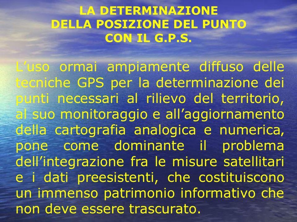 LA DETERMINAZIONE DELLA POSIZIONE DEL PUNTO CON IL G.P.S.