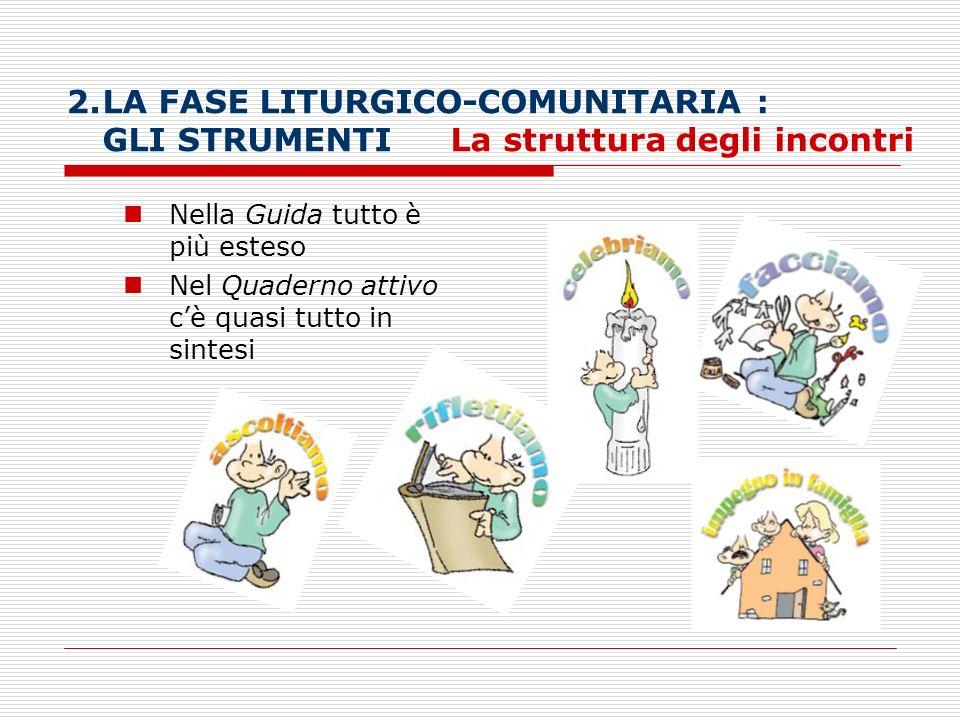 LA FASE LITURGICO-COMUNITARIA :