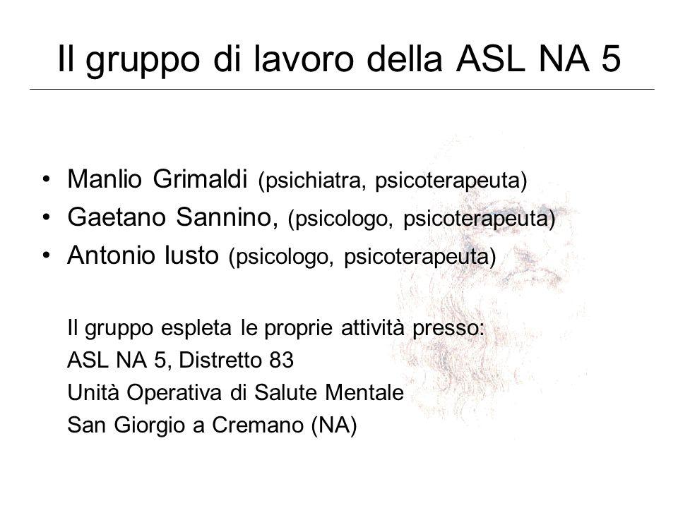 Il gruppo di lavoro della ASL NA 5