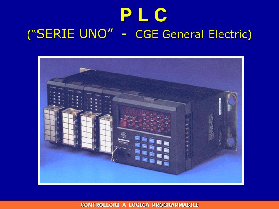P L C ( SERIE UNO - CGE General Electric)
