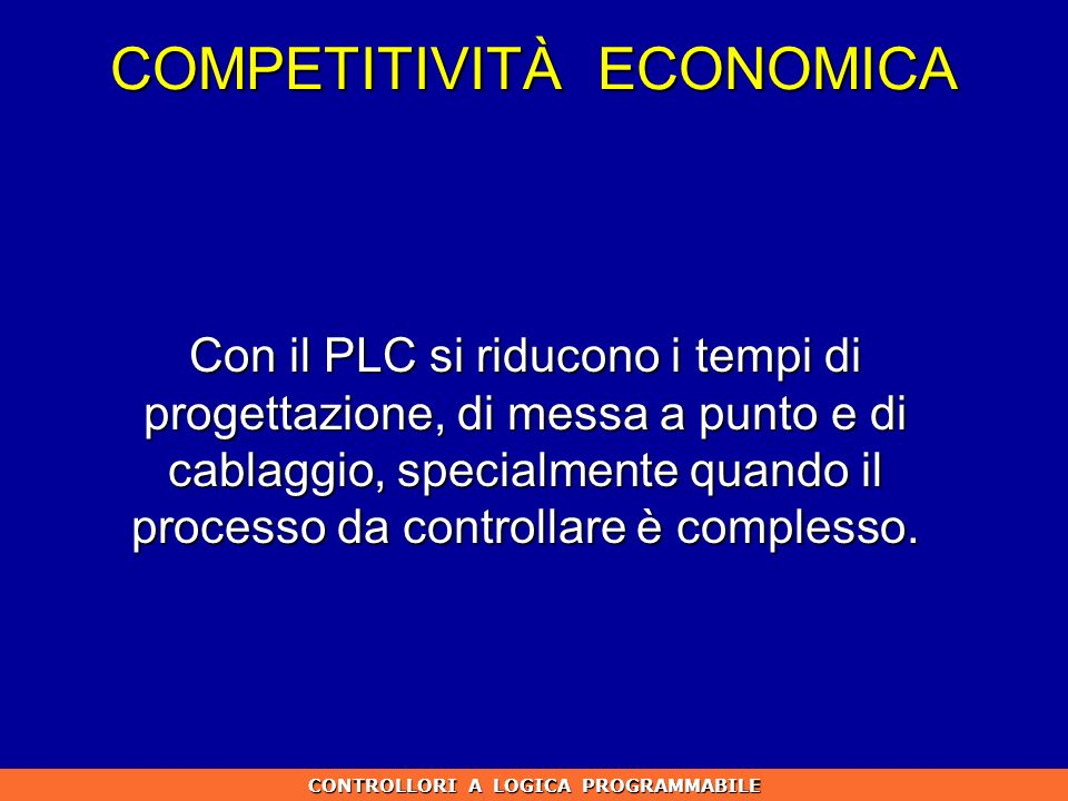 COMPETITIVITÀ ECONOMICA