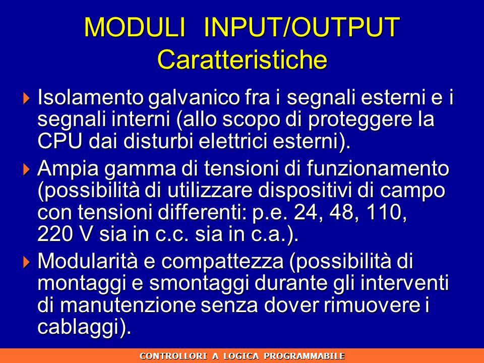 MODULI INPUT/OUTPUT Caratteristiche